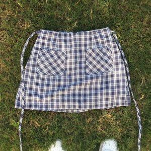 Plaid s skirt shorts underneath SKORT